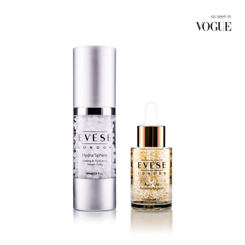 serum duo skincare collection, face serum, eye serum - dark circles, oily skin, anti wrinkle, plumping elasticity