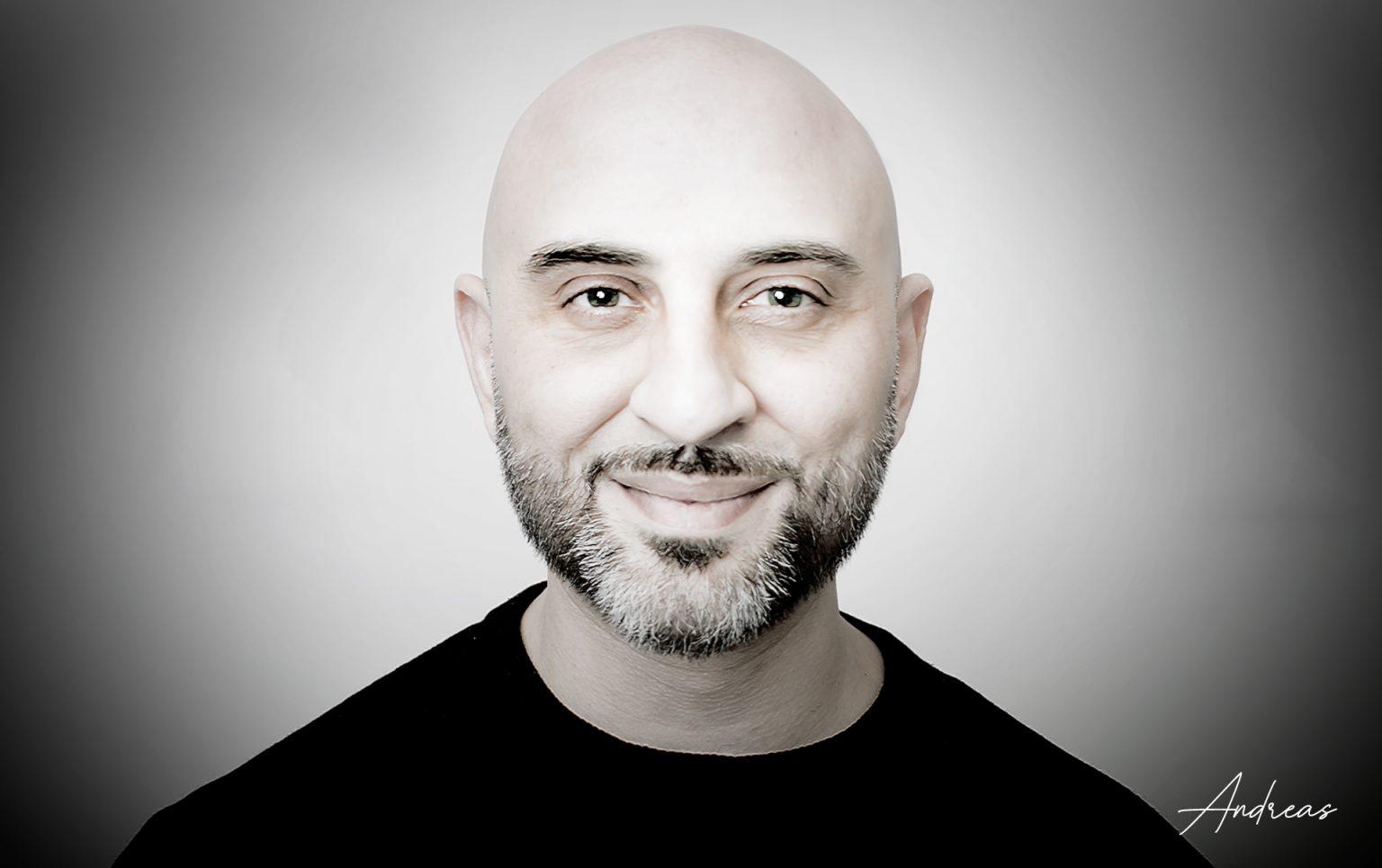 andreas samiotis; skincare brand owner; entrepreneur;